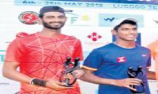 Anirudh Pair Got Doubles Title - Sakshi