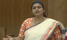 YSRCP MLA Roja flays Chandrababu In AP Assembly - Sakshi