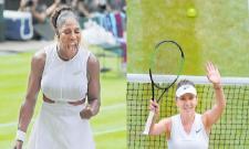 Serena Williams and Simona Halep Advance to Wimbledon Final - Sakshi