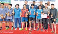 Pranav Ram Gets Badminton Singles Title - Sakshi