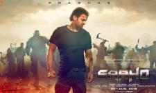 Prabhas Saaho Movie Trailer Released - Sakshi