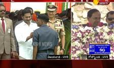 CM KCR Speech after Flag Hoisting At Golconda Fort