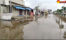 Heavy rains in Vijayawada, roads filled with flood water