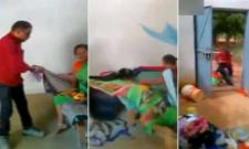 Hostel Superintendent Drags Woman Cleaner Out of Room - Sakshi