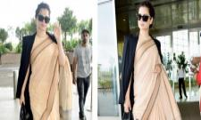 Kangana Ranaut Rs 600 Worth Saree Pic Gets Trolled - Sakshi
