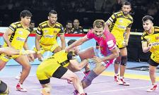 Telugu Titans continue resurgence with win over Jaipur Pink Panthers - Sakshi