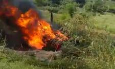 Four Died Due To Car Catches Fire in Chittoor