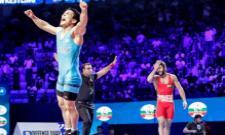 Bajrang Punia Lost A Close Battle in The 65kg Semi Final - Sakshi