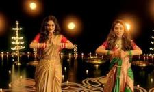 Nusrat Jahan and Mimi Chakraborty Dance for Durga Puja Theme Song - Sakshi