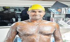 AP Swimmer Tulasi Chaitanya Gets Rare Feat - Sakshi
