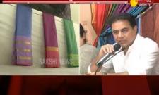 IT Minister KTR praises Bathukamma sarees  - Sakshi