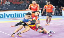 Pro Kabaddi League U Mumba Beat UP Yoddha  - Sakshi