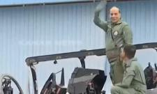 Rajnath Singh flies in Tejas fighter jet