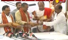 Minister Vellampalli Srinivas Rao Releases Dasara Mahotsavam Invitation