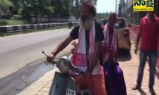 Mysuru Man Takes Mother On Pilgrimage On Scooter