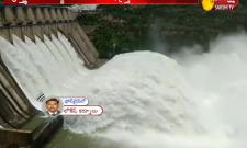 7 gates lifted at Srisailam Dam as inflow continues