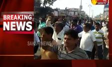 RTC Employees Protest With Dead Body In Mahabubabad