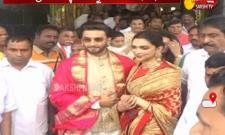 Deepika Padukone and Ranveer Singh visit Tirumala