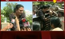 New Democracy leaders protest In Front Of Ashwathama Reddy House - Sakshi