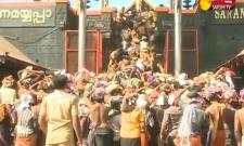Massive crowds throng Sabarimala Temple