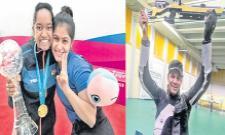 Manu, Elavenil, Divyansh Treat India To Triple Gold - Sakshi