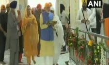 PM Modi Arrives At The Ber Sahib Grudwara - Sakshi