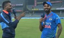 Hardik Interviews Rahul After India's T20I Series Win - Sakshi