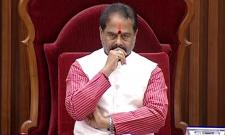 Speaker Tammineni Sitaram Expresses Anger On TDP members