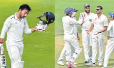 Tanmay Agarwal Keeps Hyderabad In The Game - Sakshi