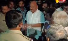 TDP Leader Ayyana Parthudu Misbehaviour on Police