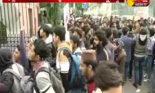 Tension at the Jamia university Delhi - Sakshi
