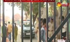 Huge Security At Mahabubnagar Hospital