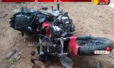 Bus collided bike Two Died in Alwal - Sakshi