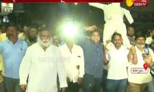 Protest Against Chandrababu Naidu At Kurnool