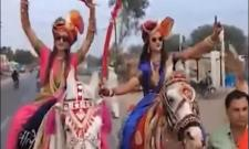 Madhya Pradesh Brides Ride Horses To Grooms Home - Sakshi