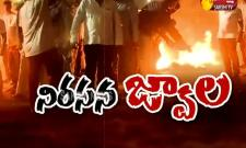 Nandyal People Burned Scarecrow of Chandrababu Naidu,