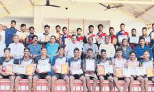 OU Inter College Kho Kho Tourney Champion GCPE Team - Sakshi