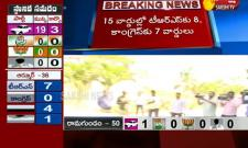 Municipal Election Result:TRS leads in Jagityal and Dharmapuri