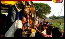 School Bus Hits A Tree In Nizambad District