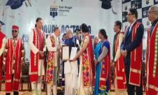 Doctorate Awarded To AP Governor Biswabhusan Harichandan - Sakshi