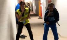 ICC T20 World Cup: Jemimah Rodrigues Dance With Security Guard - Sakshi