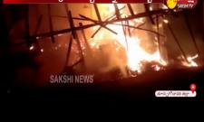 Fire Accident At Market in East Godavari