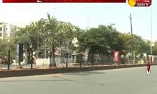 Deserted roads in Hyderabad