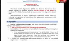 Corona Virus Cases Has Been Increasing In AP