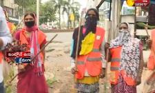 Sanitation Workers Hard Working During Lock Down