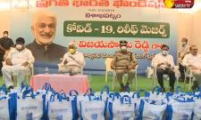 Vijaya Sai Reddy Distributes Daily Essentials to Journalist