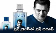 Salman Khan launches personal care brand FRSH - Sakshi
