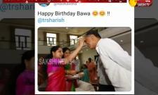 Birthday Wishes To Telangana Minister Harishrao