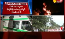 Fire accident at Visakhapatnam Pharma City Video