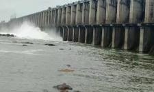 Jurala Reservoir Gets Huge Flood Water From Krishna Basin Water Video